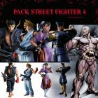 Pack Street fighter 4 - 4 figurines couleur originales + Seth